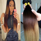 4 bundles Brazilian Virgin Ombre Straight Weaving Human Hair Extensions 200g UK