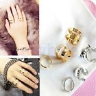3pcs Adjustable Top Over Band Midi Tip Finger Above Knuckle Open Ring Stack EW