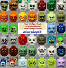 LEGO - Minifigure Heads - PICK YOUR STYLE - Monster Alien Zombie Halloween Male image