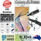 Tempered Glass / Plastic Screen Protector Film Guard For Samsung Galaxy J5 Prime