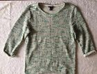 JUMPER Hennes ladies womens GREEN MIX round neck UK 8-12 used great condition