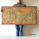 Navigation Monster World Map Vintage Poster Retro Home Bar Wall Decor Gifts P03