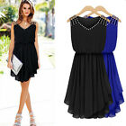Women's Summer Casual Formal Sleeveless Party Evening Cocktail Short Mini Dress