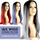Long Straight Ladies Synthetic Ombre Wig - Mono Top - Heat Resistant - I&K Roxy