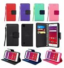 For LG Tribute HD LS676 / X Style Leather Wallet Case Cover w/ Screen Protector