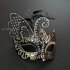 Venetian Black Gold Warrior & Metal Butterfly Masquerade Costume Prom Masks