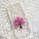 Pressed Flower iPhone 7 7plus 6 6s plus handmade real floral crystal case PFT
