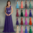 New Chiffon Evening Party Ball Wedding Formal Prom Bridesmaid Gown Dress 6-18