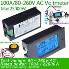Digital AC Voltage Meters Power Energy Analog Voltmeter Ammeter 100A/80~260V