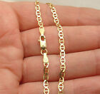 Solid Mariner Anchor Gucci Link Chain Bracelet Real 10K Yellow Gold ALL SIZES image
