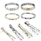 Punk Style Cool Men Women Magnetic Therapy Stainless Steel Bracelet Bangle