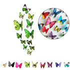 Fashion 3D Decor Butterfly Wall Sticker Fridge Magnet Photography Props Sticker