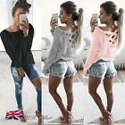 UK Womens Long Sleeve Sweatshirt Pullover Ladies Casual Tops T-Shirt Blouse