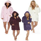 Ladies Forever Dreaming Super Soft Fleece Hooded Warm Snuggle Coatigan