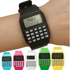 Kids Child Electronic Calculator Silicone Date Multi-Purpose Keypad Wrist Watch