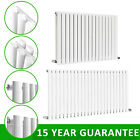 Gloss White Horizontal Designer Radiators Oval Column Panel Central Heating Rads