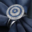 Fashion Women Solid 925 Silver White Sapphire Ring Wedding Engagement Jewelry