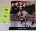 Chicago Blackhawks Face Off Official Program 1992-93 With Stadium Parking Pass