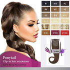 """100% Human hair Ponytail Clip in Remy Human Hair Extensions 16""""-22"""""""
