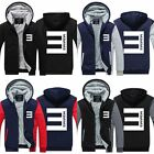Hot New!EMINEM Cosplay Zipper Hoodie Winter Coat Fleece Unisex Thicken Jacket