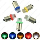 50 x 5-Color BA9S W5W 1895 Car LED Indicator Light Interior Lamps Concave Bulbs