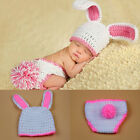 Newborn Baby Girls Crochet Knit Costume Photo Photography Prop Outfits Rabbit