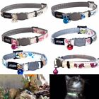 Cat Collar Glow In Dark With Bell ROGZ GLOWCAT Safety Release Breakaway Collars