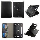 """7"""" Folio Case For Universal 7 inch Tablet Cover Card Cash Slots Rotating Stand"""