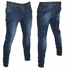 Jeans Uomo Advanced Denim Italy Vita Bassa Tasca America Slim Fit Aderenti