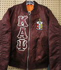 Kappa Alpha Psi Crimson MA-1 Flight Jacket with Letters and Crest Size S - 3XL