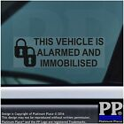 Car,Van,BLACK,Taxi,Vehicle-Alarm Immobiliser Security Warning Stickers Signs-Pad