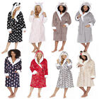 Ladies Forever Dreaming Novelty Hooded Dressing Gown Robe Animal & Xmas