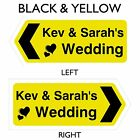 Personalised Wedding This Way Direction Sign, Weatherproof, Choice of Colours