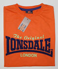 LONSDALE T-Shirt big Logo orange/lila/grün Gr. S wie M NEU