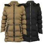 Ladies Parka Jacket Brave Soul Womens Coat Padded Hooded Puffer Fur Lined Winter