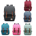 Vintage Unisex Canvas Magnetic Buckle Traveling Capmping Double Shouder Backpack