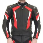 RST Motorcycle 1068 R-16 Mens Leather Jacket Red