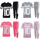 """Girls """"Gorgeous 10"""" Top & Legging 2 Piece Set Kids Gym Outfit New 7-13 Years"""