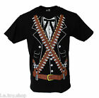 Men's Funny Mexican Tuxedo Pistolero Party Tux Halloween Costume T Shirt