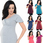 Purpless 2in1 Maternity and Nursing Short Sleeved Cotton Top Tee 7742