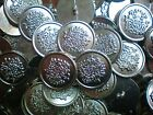 23mm 36L Silver Effect Coat of Arms  Military Metal Shank Blazer Buttons (M33) X