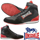 Lonsdale Cagney Boxing Boots Black/Red Trainers Shoes Classic Sportswear