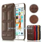 Chocolate Bar Real Leather Back Case Shell Microfiber Inner Cover for Cell Phone