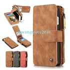 Genuine Leather Card Slot Multi-function Zipper Wallet Case Cover for iPhone 7