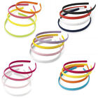 4 Pack Thin 10mm Headband Alice Band Hair Band Toothless - Choose Your Shade