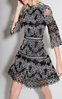 Editor's pick Alexis Karina lace Dress Party Holiday Black White Embroidery new