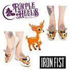 Iron Fist Deer Me Brown Fawn Bow Cute Ballerina Flat New Season UK3-9 EU36-43
