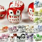 10pcs Porcelain Owl Animal Spacer Beads DIY Charm Jewelry Makings 17x15mm Lots