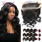 360 Lace frontal with Brazilian Hair 3 Bundles Body Wave 100% Human Hair Weaving