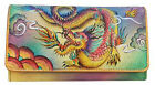 Anuschka Handbags Leather Accordian Flap Wallet - Imperial Dragon